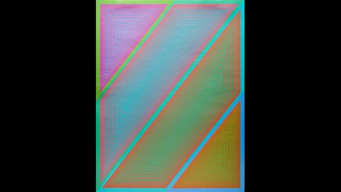 "3.	Richard Anuszkiewicz, ""Inward Eye #2,"" from the portfolio Inward Eye, 1970, serigraph. Courtesy of Swope Art Museum © Richard Anuszkiewicz/Licensed by VAGA, New York/NY VAGA"