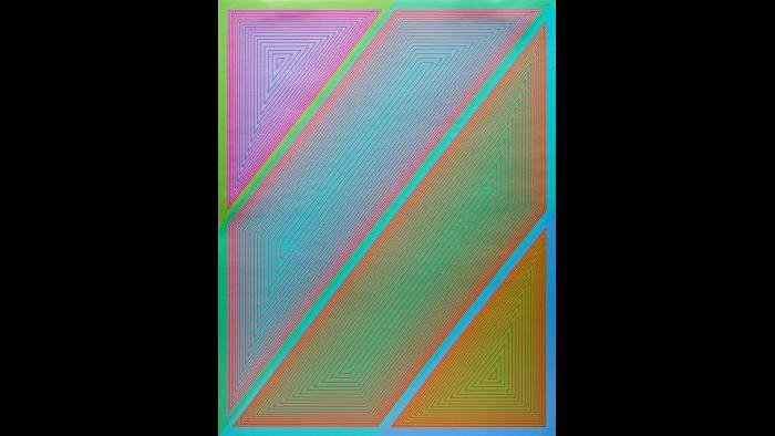 "3.Richard Anuszkiewicz, ""Inward Eye #2,"" from the portfolio Inward Eye, 1970, serigraph. Courtesy of Swope Art Museum © Richard Anuszkiewicz/Licensed by VAGA, New York/NY VAGA"