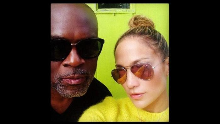 With JLO in Sag Harbor. (Courtesy L.A. Reid)