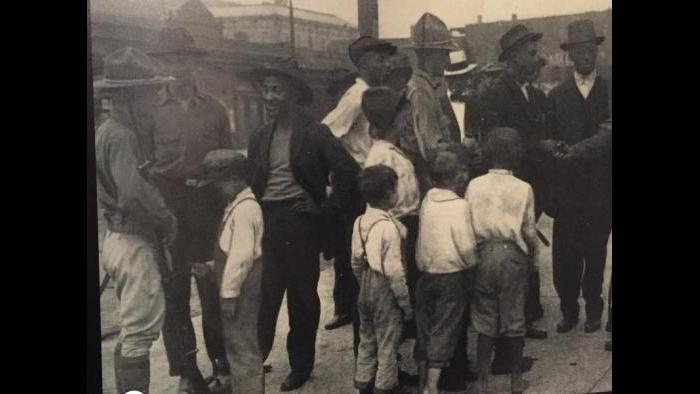 Community residents during the 1919 Chicago Race Riots.