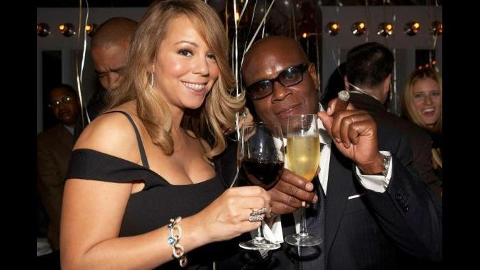 With Mariah Carey. (Courtesy L.A. Reid)