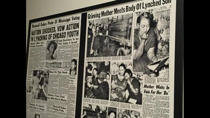 Chicago Defender coverage of the killing of Emmett Till in 1955.