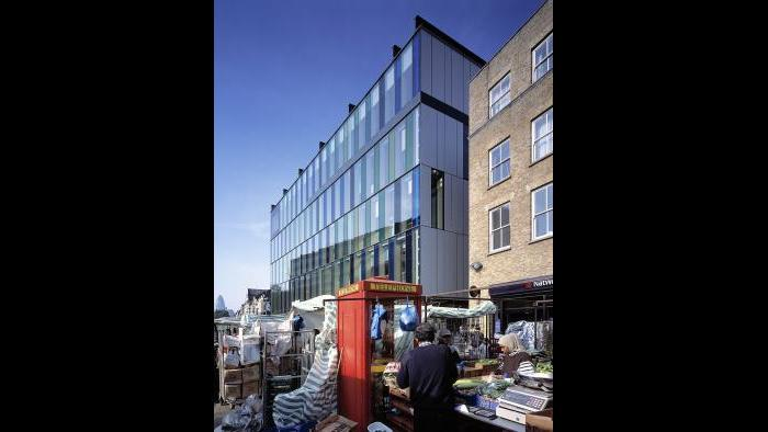 Idea Store/Whitechapel Road, London, UK, 2005. ©Edmund Sumner, courtesy of Adjaye Associates.