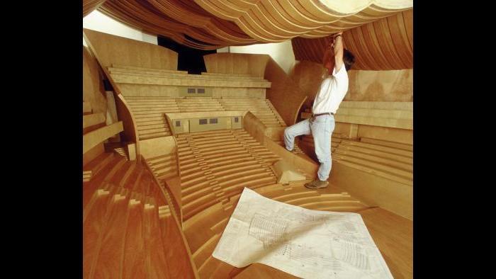 Interior Disney Hall model. (Gehry Partners LLC)