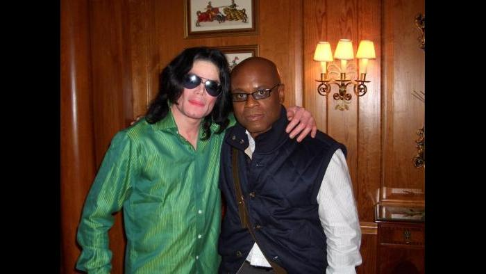 With Michael Jackson at the Dorchester Hotel, London, 2007. (Courtesy L.A. Reid)
