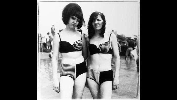 Diane Arbus, Two Girls in Matching Bathing Suits, Coney Island, N.Y., 1967