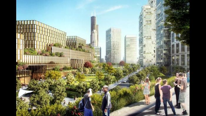 78 Crescent Park concept (Rendering by ICON, master plan architect SOM, contributions by architect ASGG)