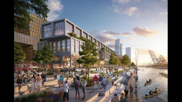 78 riverwalk concept, looking south (Rendering by ICON, master plan architect SOM, contributions by architect Hollwich Kushner)
