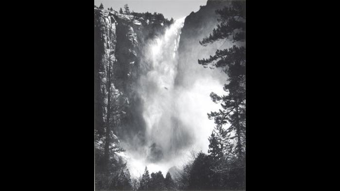 Ansel Adams, Bridalveil Fall, Yosemite National Park, California, 1927