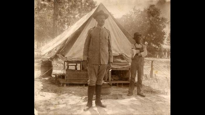 Following the declaration of war on Spain, Major Gilbreath received orders to mobilize the 11th Infantry in Tampa, Florida before deploying to Puerto Rico. (Courtesy Pritzker Military Museum)