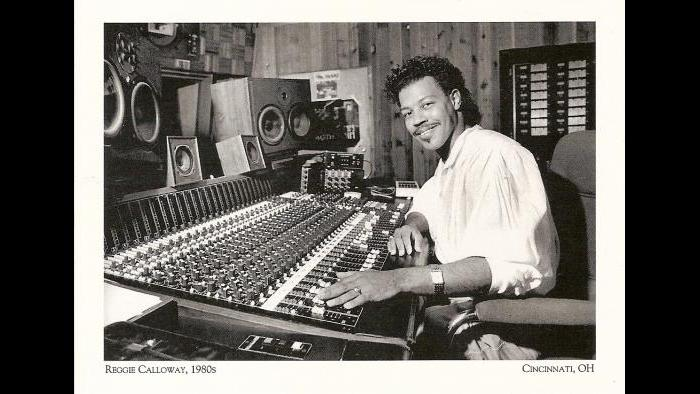 Super producer Reggie Calloway in his office at the board. (Credit Cincinnativiews.net)