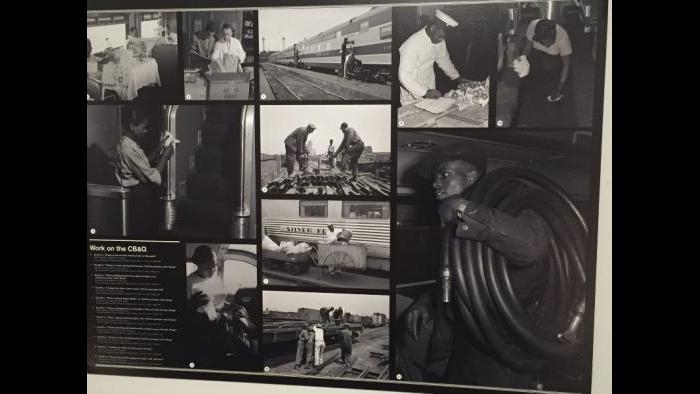 Photographs of African-American employees of the Chicago, Burlington and Quincy Railroad, 1940s.