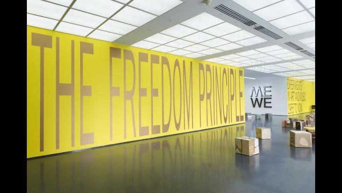 Installation view, 'The Freedom Principle' from MCA Chicago. (Photo: Nathan Keay; courtesy associated with MCA)