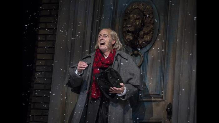 "Larry Yando portrays Ebenezer Scrooge in ""A Christmas Carol"" at the Goodman Theatre. (Photo: Liz Lauren)"