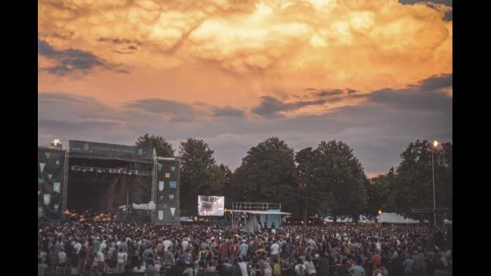 Sunset over Union Park during Pitchfork 2015. (Matt Lief Anderson / Pitchfork)