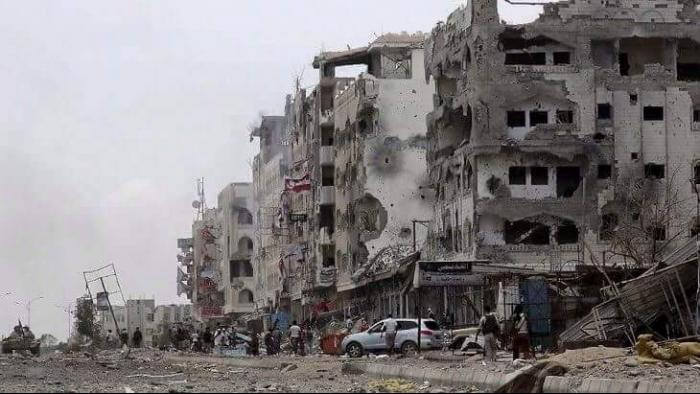 Aden during the war, March 2015. (Courtesy Mohammed Al Samawi)