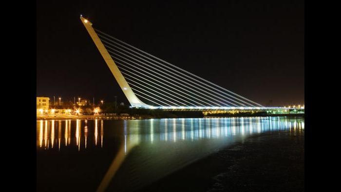 Alamillo Bridge in Seville, Spain