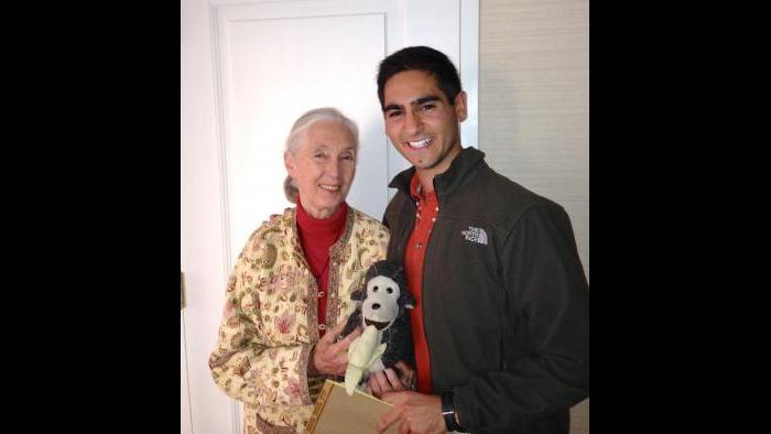 Alex Banayan with Jane Goodall (Courtesy Alex Banayan)