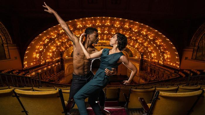 Alvin Ailey American Dance Theater's Solomon Dumas and Sarah Daley-Perdomo (Photo by Todd Rosenberg)