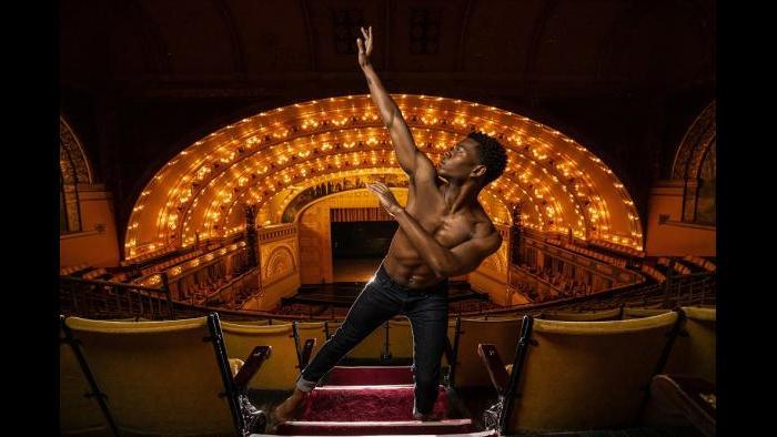 Alvin Ailey American Dance Theater's Solomon Dumas (Photo by Todd Rosenberg)