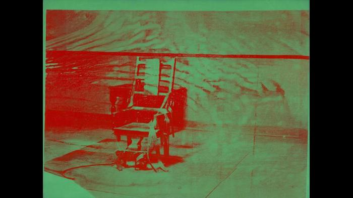 Andy Warhol. Big Electric Chair, 1967-68. (Courtesy of the Art Institute of Chicago, Gift of Edlis/Neeson Collection)