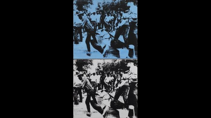 Andy Warhol. Little Race Riot, 1964. (Courtesy of the Art Institute of Chicago, Gift of Edlis/Neeson Collection)