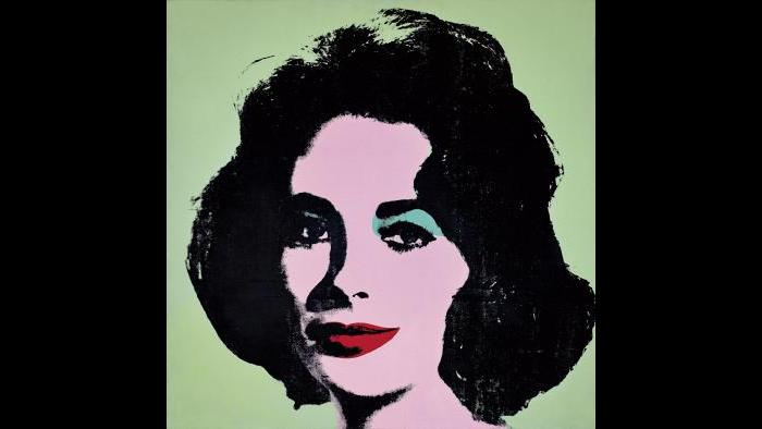 Andy Warhol. Liz #3 [Early Colored Liz], 1963. (Courtesy of The Stefan T. Edlis Collection, Partial and Promised Gift to the Art Institute of Chicago)