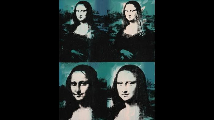 Andy Warhol. Mona Lisa Four Times, 1978. (Courtesy of the Art Institute of Chicago, Gift of Edlis/Neeson Collection)