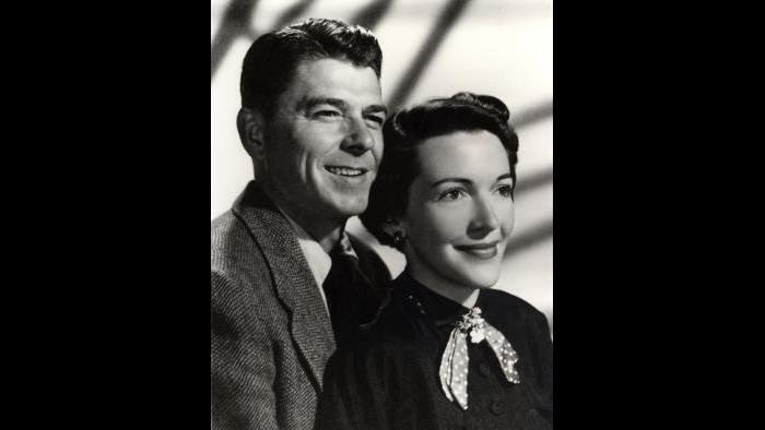 Ron and Nancy's engagement photo, January 1952