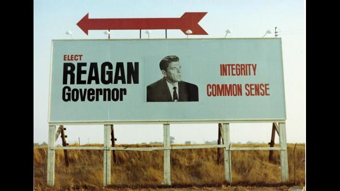 Ronald Reagan campaign billboard, 1966