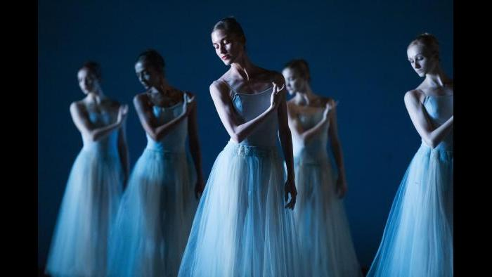 """Artists of Ballet West in George Balanchine's """"Serenade."""" (Photo by Beau Pearson)"""