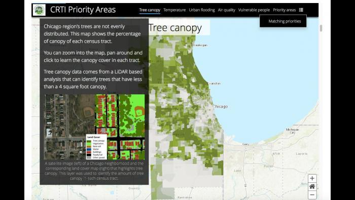 The socioeconomic inequality of Chicago's canopy cover distribution. (Chicago Region Trees Initiative)