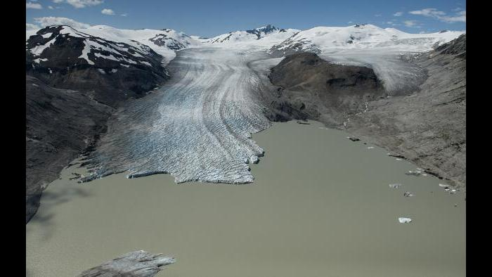 The Bridge Glacier in 2012. (James Balog / Museum of Science and Industry)