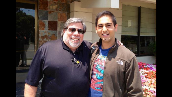 Apple co-founder Steve Wozniak, left, and author Alex Banayan. (Courtesy Alex Banayan)