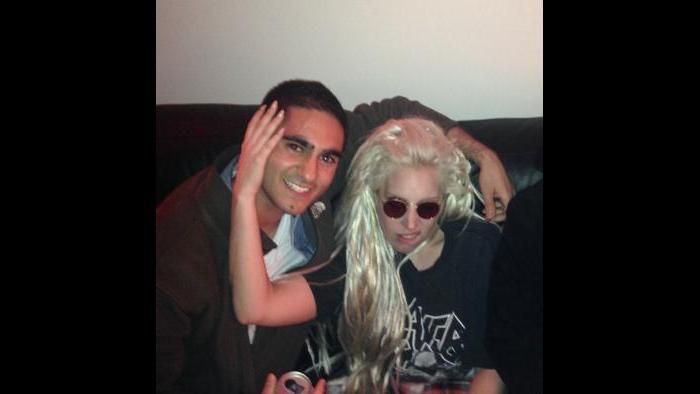 With Lady Gaga (Courtesy Alex Banayan)