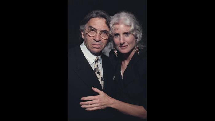 Bill Graham and Melissa Gold. Orpheum Theatre, San Francisco, October 1991. (Courtesy of Ken Friedman)