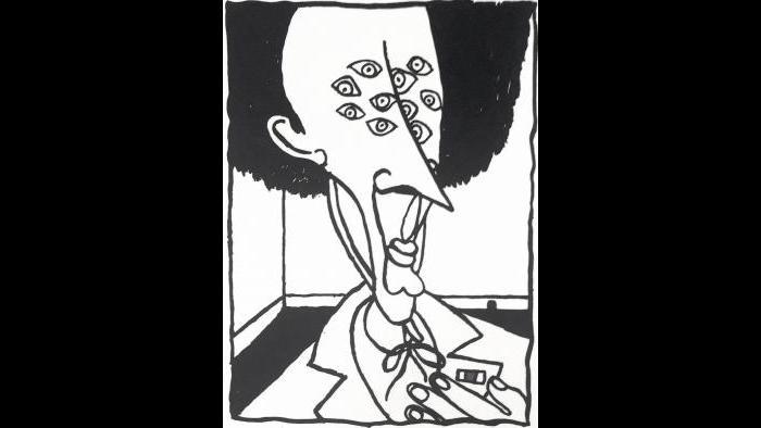 """Kurt Vonnegut, """"Black Heart Black and White Edition"""""""