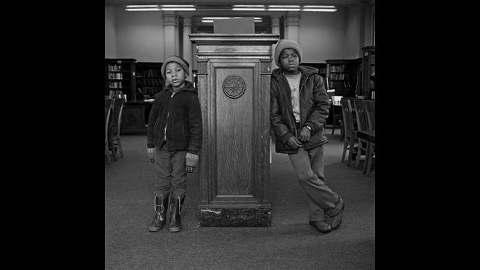 Boys in Library, West Garfield Park 1978/79 (David Gremp)