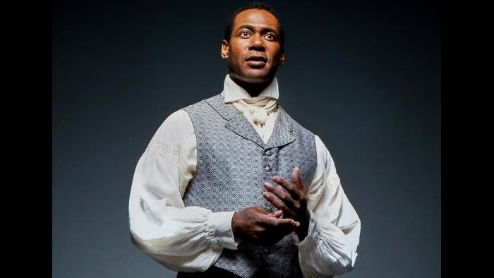 """Actor Dion Johnstone as Ira Aldridge in Chicago Shakespeare Theater's production of """"Red Velvet."""" (Photo by Jeff Sciortino)"""
