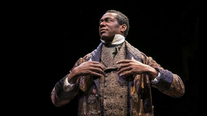 "Actor Dion Johnstone portrays Ira Aldridge in Chicago Shakespeare Theater's production of ""Red Velvet."" (Photo by Liz Lauren)"