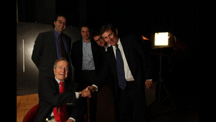 Chris Whipple and George H.W. Bush (Photo by David Hume Kennerly)
