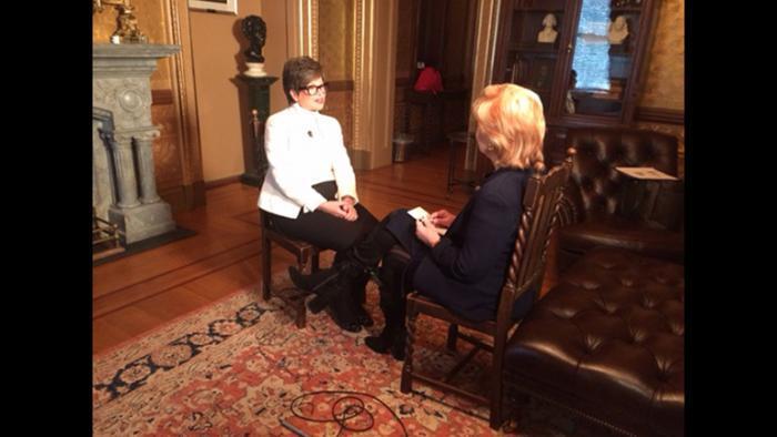 Carol Marin interviews White House Senior Adviser Valerie Jarrett on Thursday. (Don Moseley)