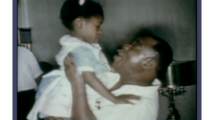 Still image from home movies taken at Louis Armstrong's house. (Courtesy of Catherine Russell)