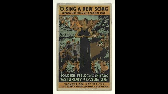 "Charles C. Dawson (1889-1981). ""O Sing a New Song,"" 1934. Lithograph. The Metropolitan Museum of Art, Gift of Reba and Dave Williams, 1999 (1999.529.58) Image © The Metropolitan Museum of Art"