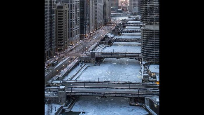Chicago River at dusk (Submitted by Tom Rossiter)