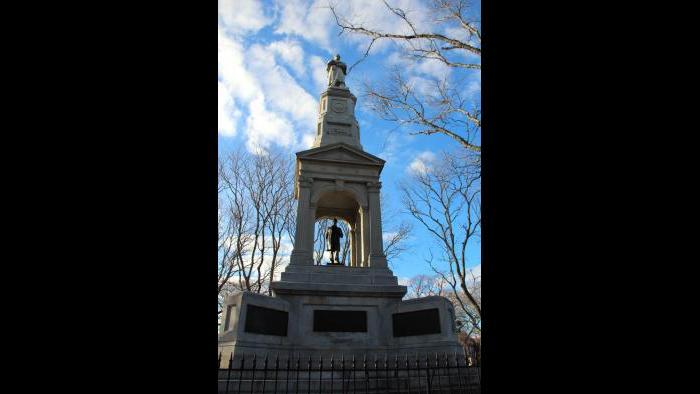 """Monument commémoratif de la guerre civile, Cambridge Common """"title ="""" Monument commémoratif de la guerre civile, Cambridge Common """"/> <p class="""