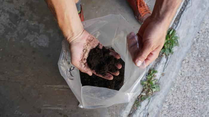 Compost product. (Alexandra Silets / Chicago Tonight)