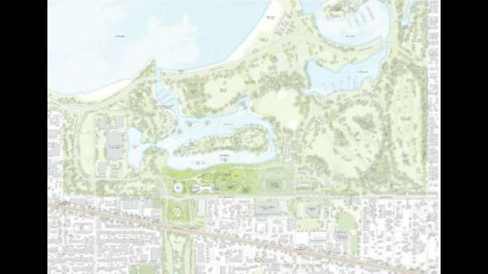 Conceptual site context plan. (Courtesy of the Obama Foundation)