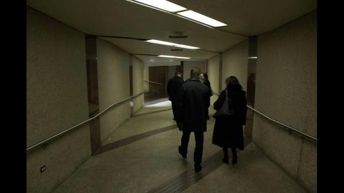 Before: Corridor, pedway level. (Courtesy of the Environmental Law & Policy Center)