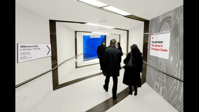 After: Corridor, pedway level. (Courtesy of the Environmental Law & Policy Center)